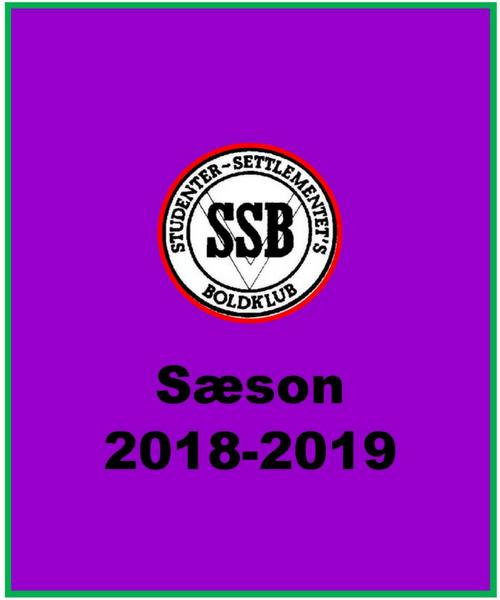 Sæson 2018-2019 Starter I Uge 36, 2018